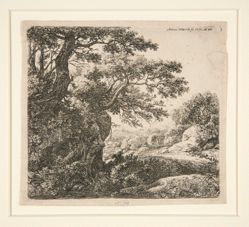 Man Sleeping Beside the Road, from a set of 6 etchings, B. 47-52