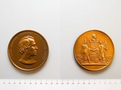 Bronze Medal of Andrew Johnson, reproduction of 1865