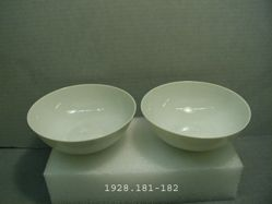 One of Pair of Porcelain Bowls