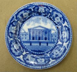 "Cup Plate with View of Second Bank of the United States, Philadelphia (commonly known as ""Custom House"")"