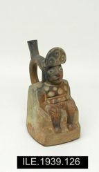 Stirrup Vessel with Seated Figure