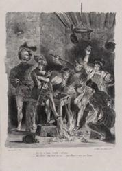 Méphistophélès dans la taverne des étudiants (Mephistopheles in the Students' Tavern), from Johann Wolfgang von Goethe's Faust