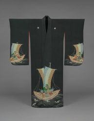Kimono with Treasure-Boat (Takarabune) Design