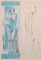 Mujer Pegada Preparatory Drawing IV