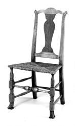 Set of six chairs, side, splat back