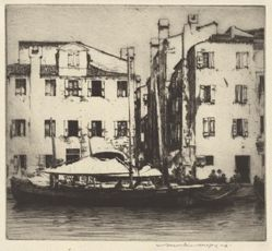 Boats on a Canal, Venetian Island