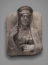 Funeral stele of a woman