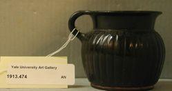 Black-glazed mug
