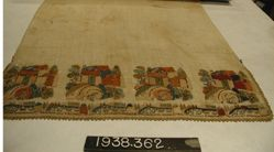 Towel of cotton cloth, embroidered