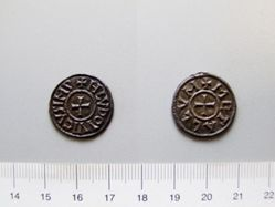 Silver Denier of Louis the Pious from Melle