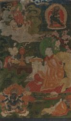 Khedrup Je Making an Offering to Tsongkhapa