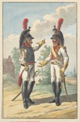 Tow Cuirassiers of the Dutch Royal Horse Guard