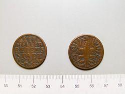 12 Heller of Franz I Stephan von Lothringen, Holy Roman Emperor from Aachen