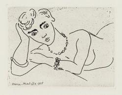 Buste de femme avec bracelets et collier (Bust-length Woman with Bracelets and Necklace), from Dessins (Drawings)