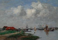The Escaut River in Antwerp