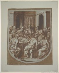 The Last Supper: design for the hood of a liturgical cope