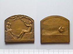 Bronze Plaquette from Belgium of La Musique