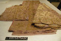 Embroidered costume, skirt, vest and sari