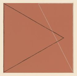 Two triangles within a square (brown-red), 1974
