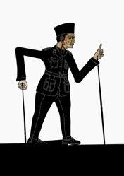 Shadow Puppet (Wayang Kulit) of Bung Karno or Ir Soekarno