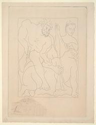 Hercule tue la centaure Nessus (Hercules Killing the Centaur Nessus), from Ovid's Metamorphoses