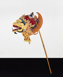 Shadow Puppet (Wayang Kulit) of Kepala Cakil