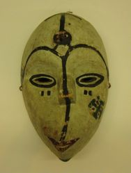 Mask with Twisted Mouth