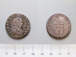 Silver 1/4 Écu of Louis XV of France