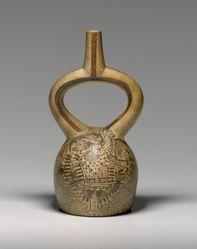 Stirrup Vessel with a Pair of Combatants