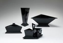 """Vase, """"Modernistic"""" pattern"""