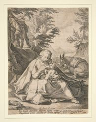 The Holy Family on the Flight into Egypt