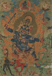 Four-Faced Wrathful Protector Mahakala as Chaturmukha Mahakala