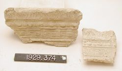 Frieze fragment with three patterned bands