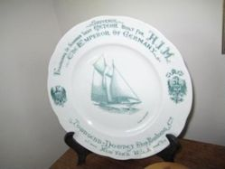 Plate commemorating christening of the Kaiser's yacht, 'Meteor'