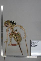 Shadow Puppet (Wayang Kulit) of Tatagan or Bobo Sabrang, from the set Kyai Drajat