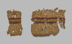 Textile, two fragments of knitting