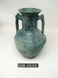 Green Glazed Pottery Amphora