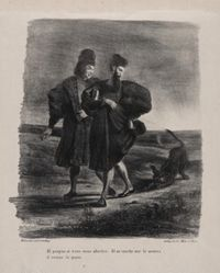 Faust, Wagner et le barbet (Faust, Wagner, and the Spaniel), from Johann Wolfgang von Goethe's Faust