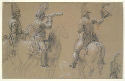 Studies of Mounted Soldiers