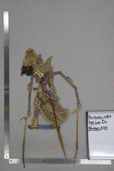 Shadow Puppet (Wayang Kulit) of Endra, from the set Kyai Drajat