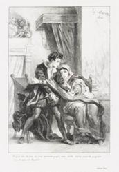 Hamlet et la reine (Act. III Sc. IV) (Hamlet and the Queen), from Shakespeare's Hamlet