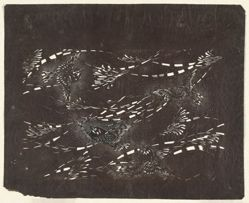 Sparrows [Japanese stencil design]