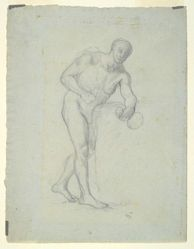 Nude Figure with a Flask