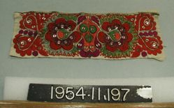 Length of embroidered cotton