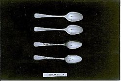 Four teaspoons