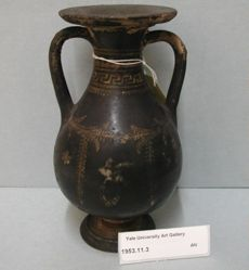 Brown pot, plain jug