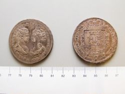 Coin from Tuscany under Charles Louis