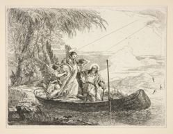 The Holy Family Enters a Boat, from the series Idee pittoresche sopra la fuga in Egitto (Flight into Egypt)