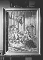 Embroidered picture, Solomon and the Queen of Sheba