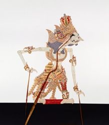 Shadow Puppet (Wayang Kulit) of Baladewa, from the consecrated set Kyai Nugroho